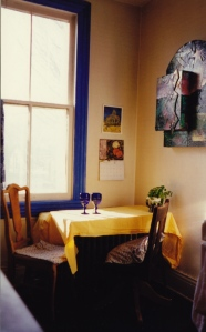An early landscape in my Jackson St. apartment, Hamilton, c1992