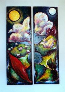 landscape diptych c1991 - colour corrected