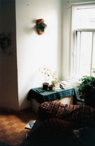 Mike Tozman's sculpture in Cynthia's Rue St-Dominique apartment, Montrea, 1995