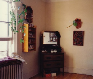 Mike Tozman's work, with a piece by Cynthia Hammond, her her Jackson St. apartment, c1992