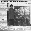 Article in The Silhouette, 31 Oct.1991