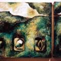 Triptych with Self-Portrait_1992