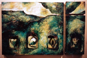 Triptych with Self-Portrait_1992