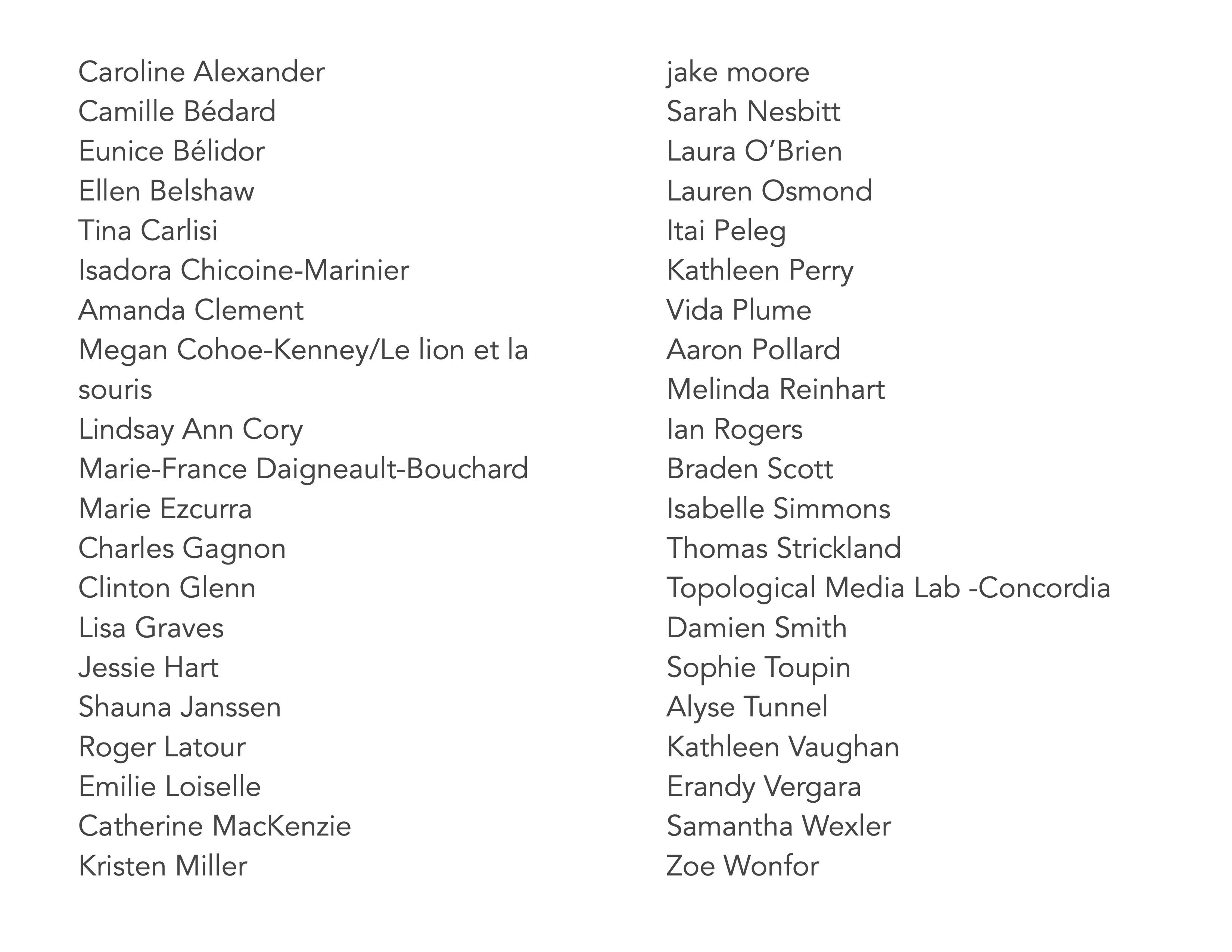 possible participants