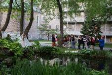 View of site showing Anne-Flore de Rochambeau. Photo: Jin Kim